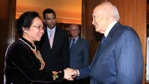 Вице-президент СРВ Нгуен Тхи Зоан нанесла визит вежливости президенту Греции - ảnh 1