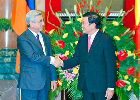 Официальный визит президента Армении во Вьетнам - ảnh 1