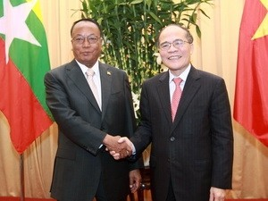 Завершился визит во Вьетнам спикера федерального парламента Мьянмы - ảnh 1