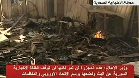 В Сирии совершено нападение на проправительственный телеканал - ảnh 1