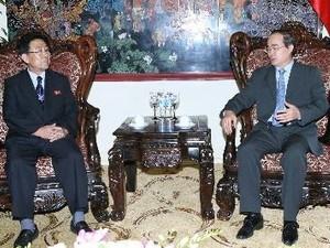 Вице-премьер Нгуен Тхиен Нян принял министра высшего образования КНДР - ảnh 1