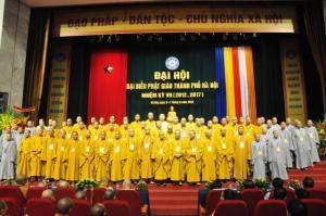 Завершился 7-ой Съезд Ханойской буддийской организации - ảnh 1