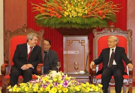 Нгуен Фу Чонг принял делегацию Компартии Чехии и Моравии - ảnh 1