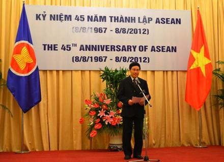 Церемония празднования 45-летия со дня создания АСЕАН - ảnh 1