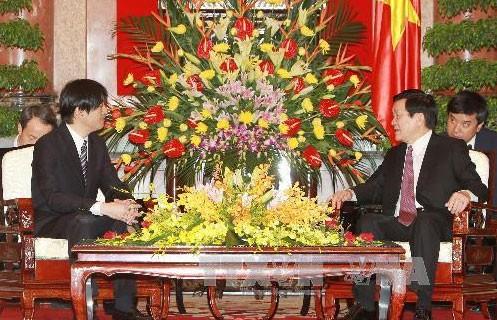 Президент СРВ Чыонг Тан Шанг принял японского принца Акисино - ảnh 1