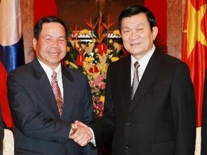 Президент Вьетнама Чыонг Тан Шанг принял министра безопасности Лаоса - ảnh 1