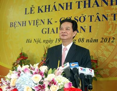 Нгуен Тан Зунг принял участие в церемонии начала работы отделения больницы «К» - ảnh 1