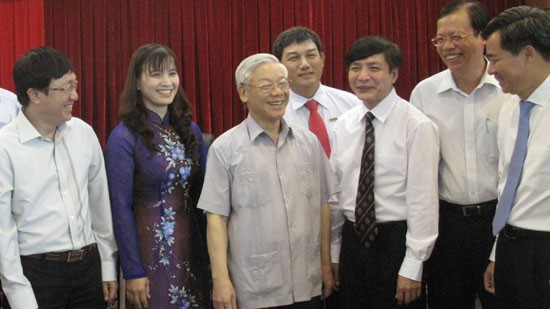 Нгуен Фу Чонг провел рабочую встречу с парткомом предприятий центрального... - ảnh 1