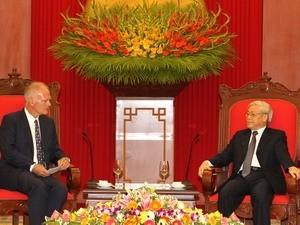 Нгуен Фу Чонг принял руководителя представительства Евросоюза во Вьетнаме - ảnh 1