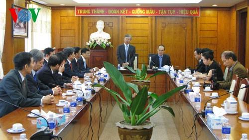 В Лаосе с визитом находилась делегация Отечественного фронта Вьетнама - ảnh 2