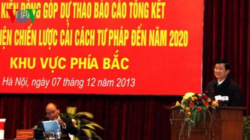 Президент СРВ председательствовал на конференции по подведению итогов работы по правовой реформе - ảnh 1