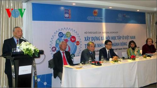 Превращение Вьетнама в интегрирующее, творческое и устойчивое обучающееся общество - ảnh 1