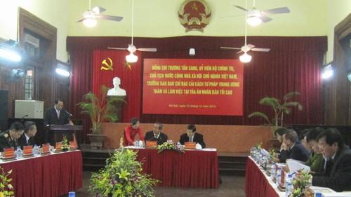 Президент СРВ провёл рабочую встречу с руководителями Верховного народного суда - ảnh 1