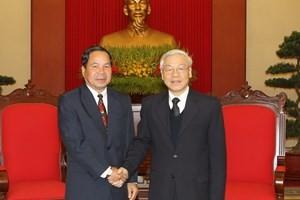 Генсек ЦК КПВ принял делегацию министерства безопасности Лаоса - ảnh 1