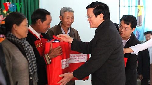 Президент Вьетнама Чыонг Тан Шанг посетил провинцию Даклак - ảnh 1