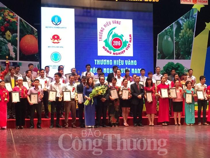 79 thương hiệu vàng nông nghiệp Việt Nam năm 2016 - ảnh 1