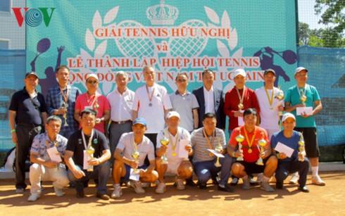 Giải tennis hữu nghị của cộng đồng Việt Nam tại Ukraine - ảnh 3