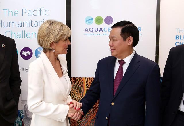 Phó Thủ tướng Vương Đình Huệ làm việc với Bộ trưởng Ngoại giao Australia - ảnh 1