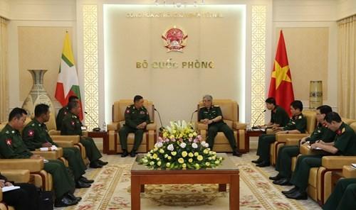 Thứ trưởng Bộ Quốc phòng Việt Nam tiếp Phó Tổng cục trưởng Tổng cục An ninh - Quân sự Myanmar - ảnh 1