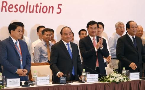 Thực hiện Nghị quyết TW 5: Chính phủ đồng hành cùng khu vực tư nhân - ảnh 1