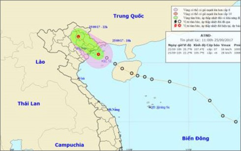 Áp thấp nhiệt đới gây mưa dông ở nhiều nơi, đề phòng ngập lụt - ảnh 1