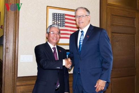 Đại sứ Việt Nam tại Hoa Kỳ Phạm Quang Vinh thăm, làm việc với doanh nghiệp tại bang Washington - ảnh 1