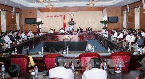 Phó Chủ tịch Quốc hội Uông Chu Lưu tiếp Đoàn đại biểu doanh nhân Việt Nam tiêu biểu - ảnh 1
