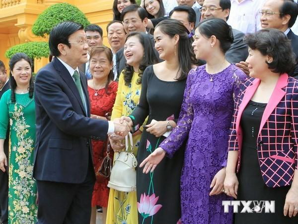 Chủ tịch nước Trương Tấn Sang gặp mặt đoàn đại biểu