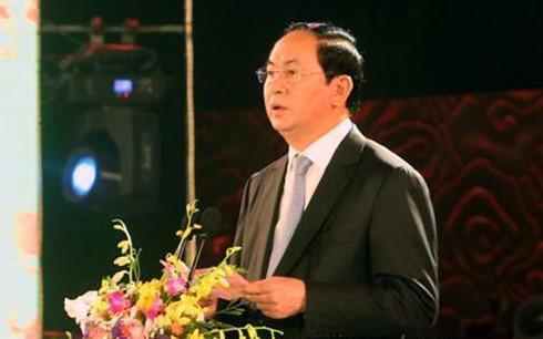 Chủ tịch nước Trần Đại Quang dự lễ khai mạc Ngày Văn hóa các dân tộc Việt Nam - ảnh 1