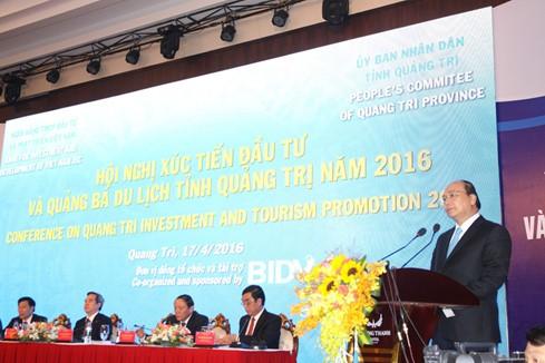 Thủ tướng Nguyễn Xuân Phúc dự Hội nghị xúc tiến đầu tư và quảng bá du lịch tỉnh Quảng Trị  - ảnh 1