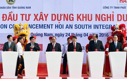 Thủ tướng dự lễ khởi công hai dự án đầu tư lớn tại Quảng Nam - ảnh 1