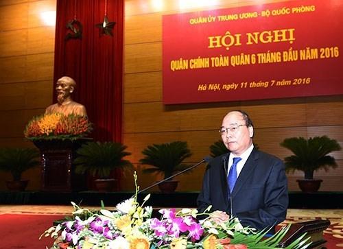Thủ tướng Nguyễn Xuân Phúc dự Hội nghị Quân chính toàn quân 6 tháng đầu năm 2016  - ảnh 1