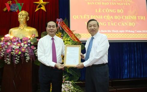 Chủ tịch nước Trần Đại Quang trao Quyết định phân công Trưởng Ban Chỉ đạo Tây Nguyên  - ảnh 1