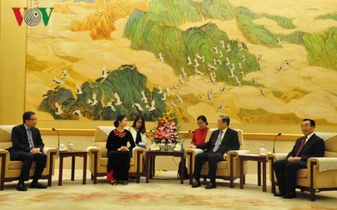 Chính Hiệp Trung Quốc coi trọng phát triển quan hệ hữu nghị với Mặt trận Tổ quốc Việt Nam - ảnh 1