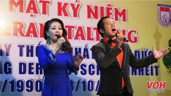 Một tiết mục văn nghệ tại lễ kỳ niệm (Ảnh: voh.com.vn)
