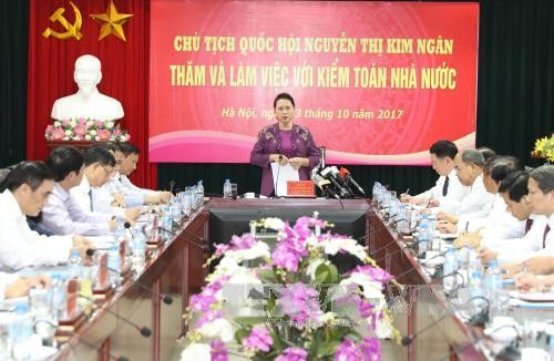 Chủ tịch Quốc hội Nguyễn Thị Kim Ngân làm việc với Kiểm toán nhà nước - ảnh 1