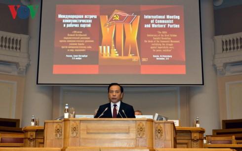 Đoàn đại biểu Đảng Cộng sản VN dự Cuộc gặp quốc tế các Đảng Cộng sản và công nhân lần thứ 19 - ảnh 1
