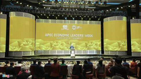 Chủ tịch Trần Đại Quang chủ trì tiệc chiêu đãi Hội nghị cấp cao APEC - ảnh 1