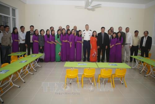 Bộ Tư lệnh Thái Bình Dương- Hoa Kỳ tài trợ xây dựng trường mầm non tại Thừa Thiên - Huế  - ảnh 1