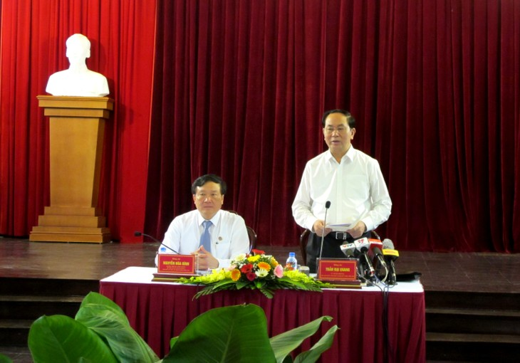 President Tran Dai Quang calls for rule of law to ensure justice - ảnh 1