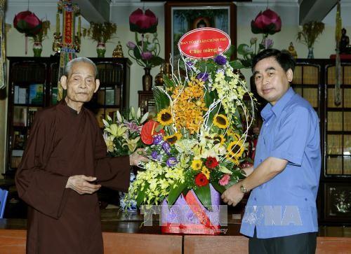 The Government congratulates Vietnam Buddhist Shangha on Vu Lan Festival - ảnh 1