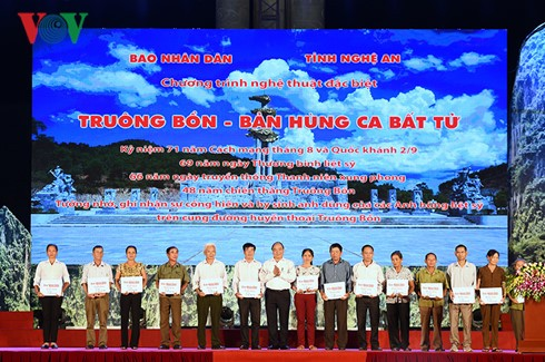 Art program to honor war heroes held in Nghe An - ảnh 1