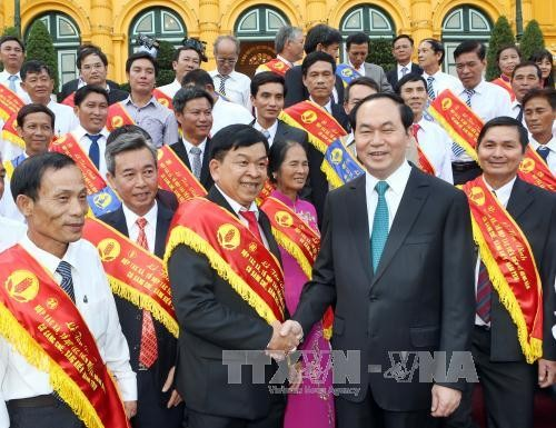 President Tran Dai Quang: rural areas modernization is a primary task  - ảnh 1
