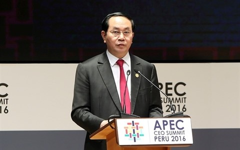 President Tran Dai Quang calls for ideas for APEC Year 2017  - ảnh 1