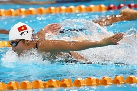 Vietnam wins one gold, two bronze medals at Asian Swimming Championships  - ảnh 1