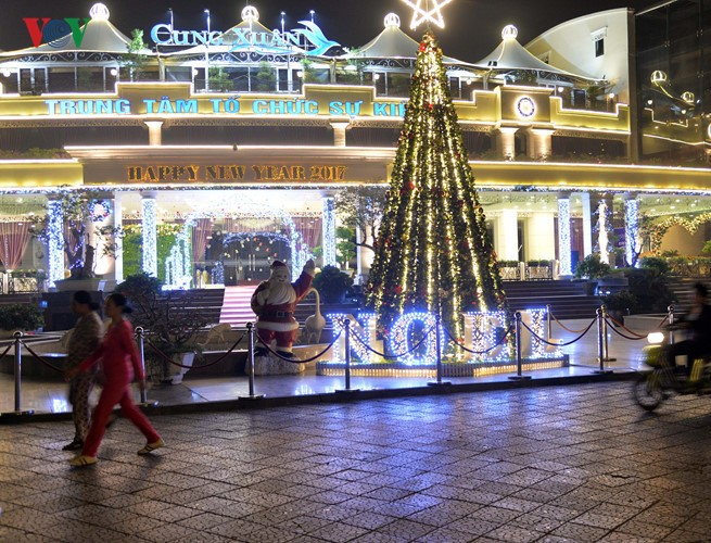 Hanoi streets lit up as merry Christmas comes - ảnh 6