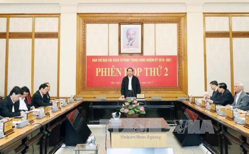 President chairs 2nd meeting of Central Steering Committee on Judicial Reform  - ảnh 1