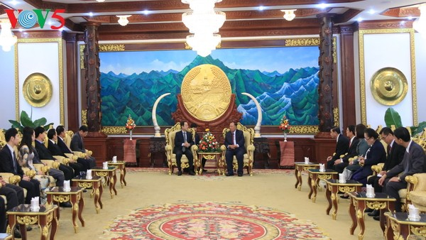 Lao President praises cooperation between the two Presidential Offices - ảnh 1