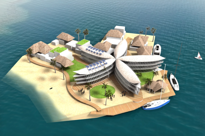 Floating city to fight rising sea level  - ảnh 1