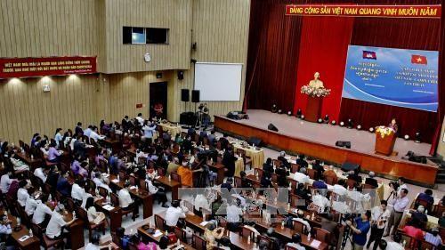 Vietnam-Cambodia friendship meeting   - ảnh 1